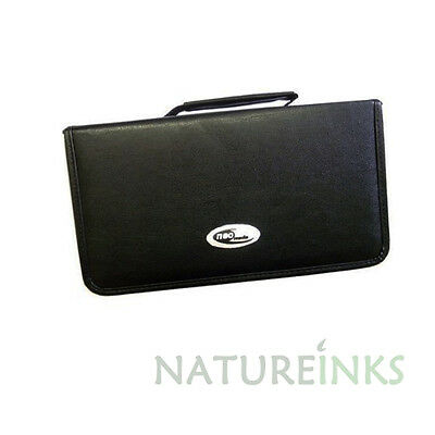 1 X Neo 120 Synthetic Leather CD DVD Discs Storage Carry Wallet Strong Zip    • 7.79£