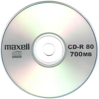 10 Genuine Maxell Blank CD-R CD Discs 80 Min 700MB Extra Protection Sleeves • 3.08£
