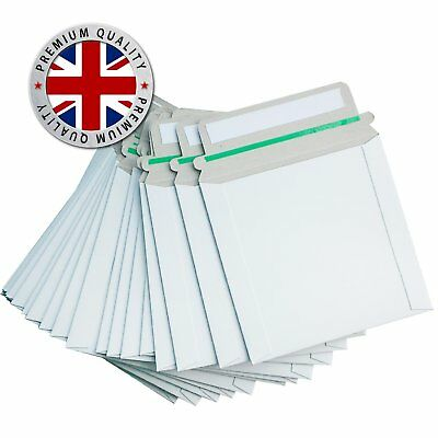 100 Cardboard CD DVD Mailers White Postal Envelopes PEEL And SEAL Strong Seal • 14.99£