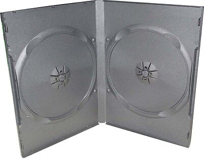 5 X Double 2 Disc Black 14mm DVD Case (New) • 3.99£