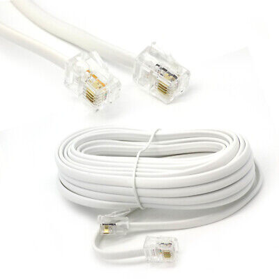 25m ADSL RJ11 To RJ-11 ADSL Cable For Use BT DSL Broadband Router Modem Lead • 3.95£