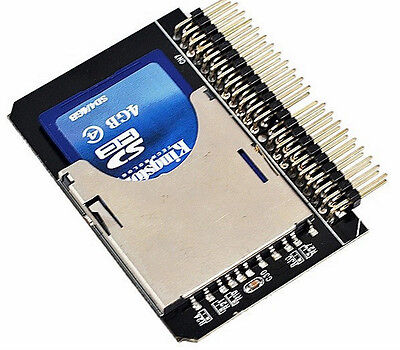 SD SDHC MMC Card To 2.5''44 Pin IDE Male Adapter Converter High Quality UK Stock • 19.99£