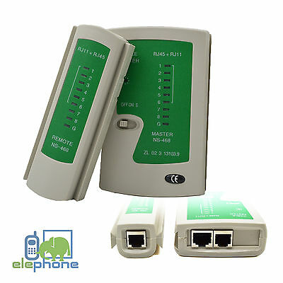 RJ45 CAT5e CAT6 RJ11 Network Cable Tester Ethernet LAN PC Wire Lead Testing Tool • 5.95£