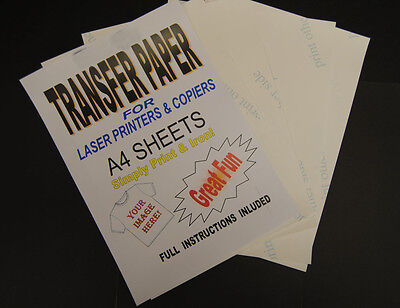 10x A4 Laser & Copier T Shirt Thermal Transfer Paper Sheets For Light Fabrics • 7.79£
