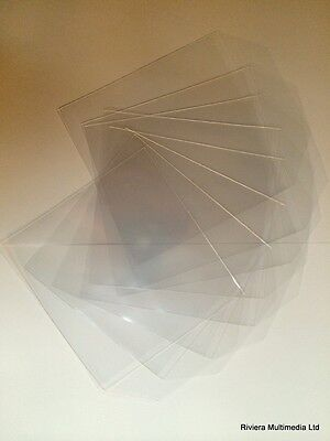 200 X High Quality CD DVD Clear Plastic Sleeves Wallet Cover Case 80 Micron  • 4.79£