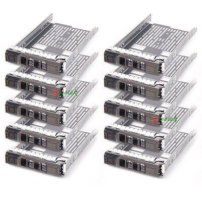 10X 3.5  SAS/SATA Drive Tray Caddy For Dell Sled G302D T710 F238F R810 R710 T610 • 69.99£