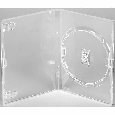 25 X Genuine Clear Amaray Ecolite Single DVD Cases • 10.25£