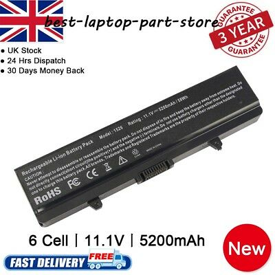 5200mAh Battery For Dell Inspiron 1525 1526 1440 1545 1546 1750 GW240 X284G UK • 12.99£