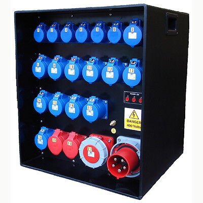 Mains Power Distribution Distro Box. Stage, Site, Electrical & Event Panel Board • 2,360£