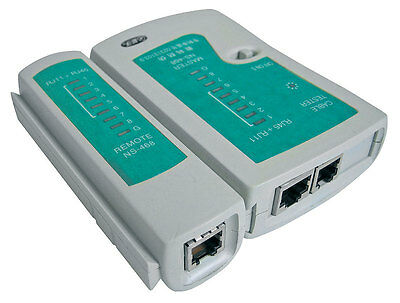 RJ11 RJ45 Internet Ethernet Network LAN A-DSL Telephone Cable Lead  Tester • 4.99£