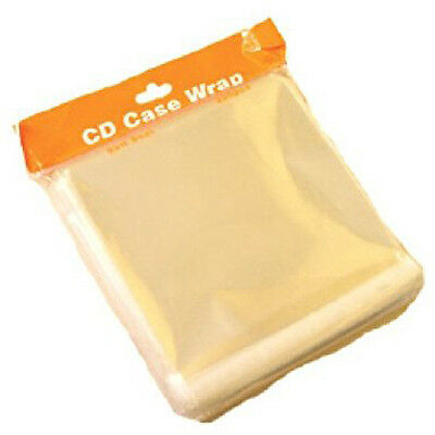 Clear 10.2mm Jewel CD Case Wrapping Sleeve Wraps - 200 PACK • 3.79£