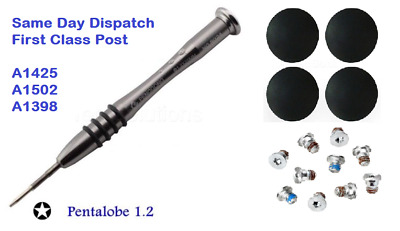  MacBook Pro A1425 A1398 A1502 Bottom Case Feet Screws Screwdriver Kit Set  • 4.79£