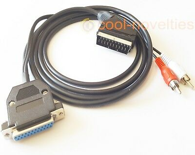 Commodore Amiga 500, 600, 1200, 4000, New Rgb 2 Metre Scart Tv Cable • 13.99£