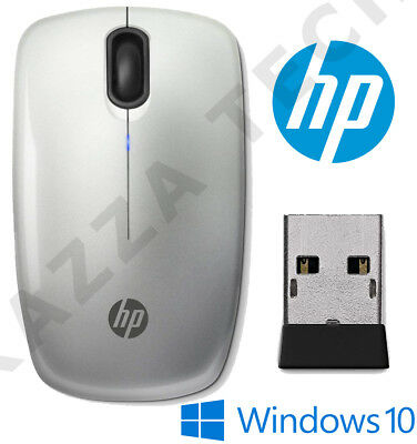 HP NEW Z3200 Silver Wireless Optical Sleek Mouse Compact For PC Laptop MAC Linux • 14.29£