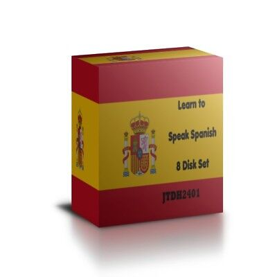 Learn To Speak SPANISH -Complete Language Training Course 8 AUDIO CDs • 6.67£