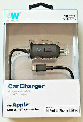 Just Wireless Fast Lightning Car Charger 2m Coiled Cable IPhone 5 6 7 8 X XS XR • 7.90£