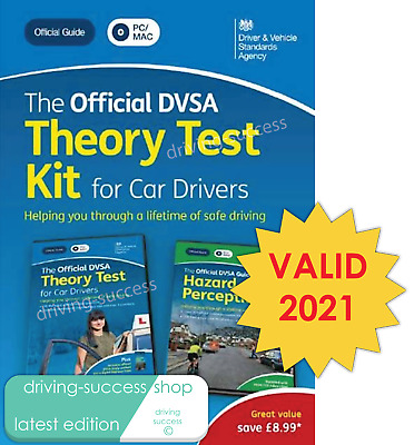 Official DVSA Theory Test Kit 2020 EDITION - 2 DISCS -THEORY & HAZARD - PC & MAC • 14£