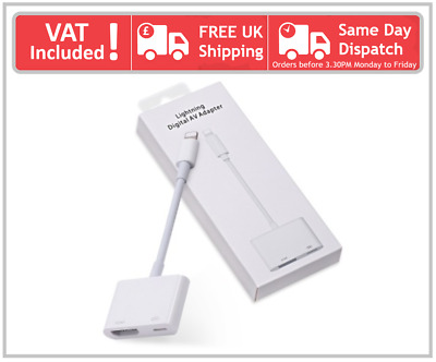 For Apple IPhone SE 5 6 7 8 X Plus Lightning To HDMI Digital AV TV Cable Adapter • 18.99£