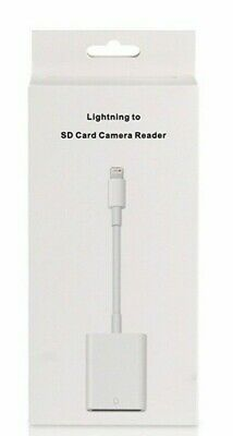 For Apple IPad Mini Pro Air Lightning To SD Card Camera Reader Adapter Cable • 16.99£