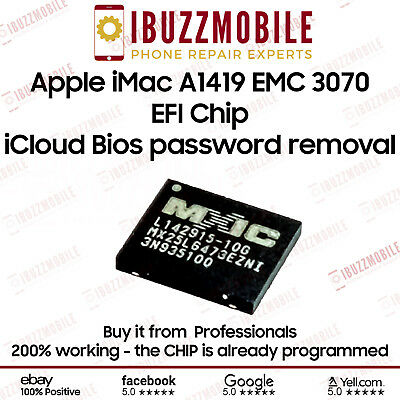IMac 27  A1419 EMC 3070 MID 2017  EFI IC ICloud Bios Password Removal MX25L6473E • 39.99£