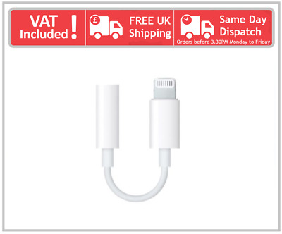 Lightning To 3.5mm Apple IPhone 6 7 8 X Plus Headphone Jack Aux Adapter Cable • 4.99£