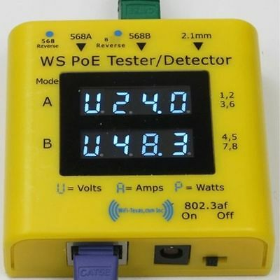 WS POE Tester+ WS-POE-Tester_001 Dual Microprocessor Volt Ammeter PoE Systems • 48.92£