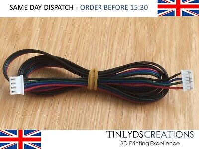 4 Wire Nema17 Stepper Motor Cable 1 Metre Long With JST HX2.54mm 4Pin 3D Printer • 2.95£