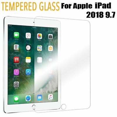 IPad 2018 Screen Protector Tempered Glass Film For Apple IPad 6th Generation 9.7 • 3.99£