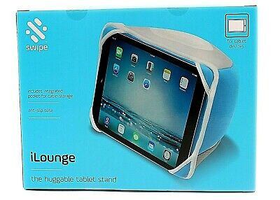 Portable Tablet Cushion Stand Support Bean Bag Pillow Kindle Ipad Android Blue • 8.99£