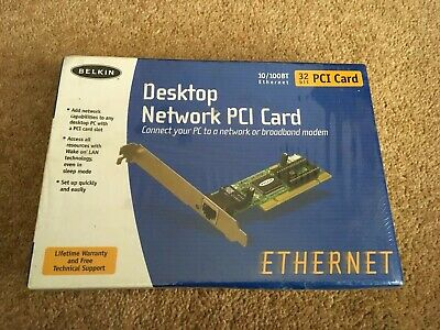 BELKIN DESKTOP NETWORK PCI CARD 32 Bit PCI Card • 6£