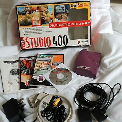 Pinnacle - MicroVideo - Studio 400 - Boxed Parallel Port Video Editor • 14.99£