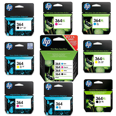 Genuine HP 364 Combo / 364XL Black And Colour Ink Cartridges Photosmart Cyan Lot • 29.92£
