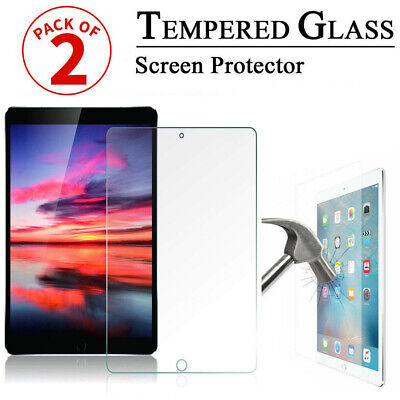 2 Pack Tempered Glass Screen Protector New For Apple IPad 5th&6th Gen Air1& Air2 • 4.45£