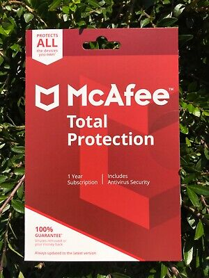 McAfee Total Protection 2020 1 Year Antivirus Internet Security Genuine • 8£