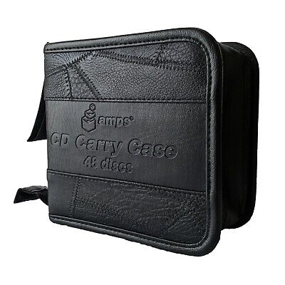 48 Holder Storage DVD Blueray CD Wallet Case PU Leather  • 5.95£