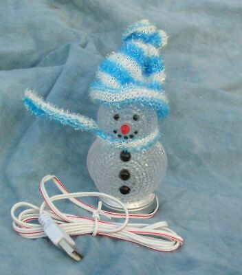 Cheery Christmas Snowman USB Toy,Colour Changing LEDs...... Best On Ebay • 7.50£