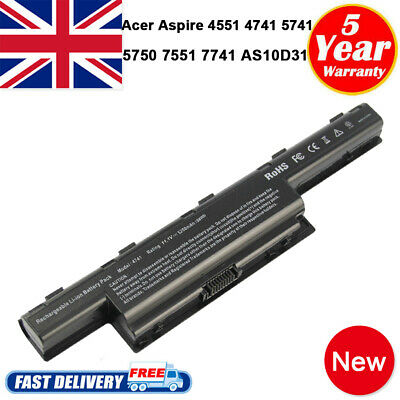 Notebook Battery For Acer Aspire 5336 5349 5742G 5750G AS10D73 AS10D75 AS10D81 • 12.99£