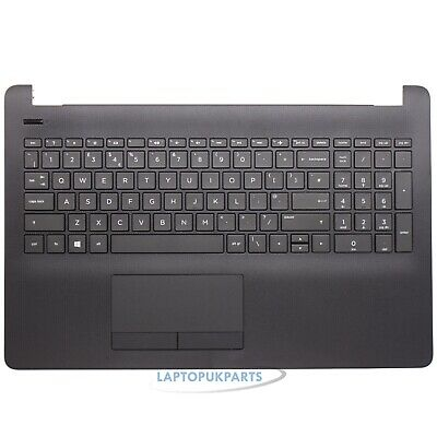 New Replacement For HP 15-BS158SA Black Palmrest TouchPad Cover UK Keyboard • 45.99£