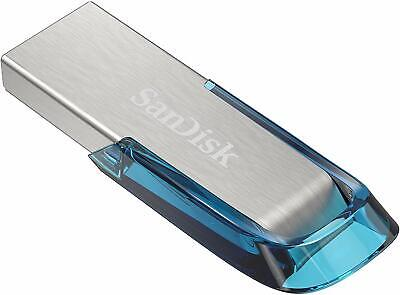 32GB SanDisk ULTRA FLAIR High Speed USB 3.0 Memory Stick Drive Pen 130MB/s BLUE • 5.79£