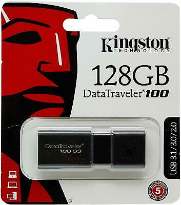 Kingston DataTraveler 100 G3 32GB 64GB 128GB USB 3.0 Flash Memory Drive Photo PC • 12.99£