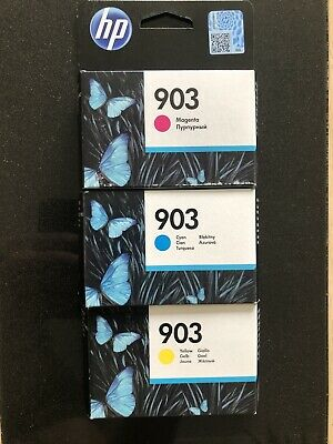 Genuine HP 903 X 3 In Magenta, Cyan, And Yellow. Unsealed Unused. • 9.95£
