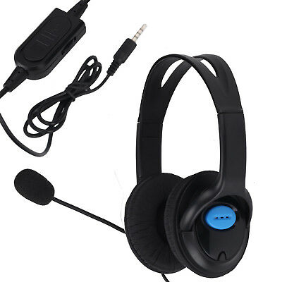 Deluxe Headset Headphone With Microphone Mic Volume Control For  Sony PS4 And PC • 13.99£