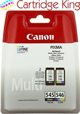 Genuine Original Canon PG-545/CL-546 Combo Black Colour Ink Pack PG 545 CL 546 • 27.49£