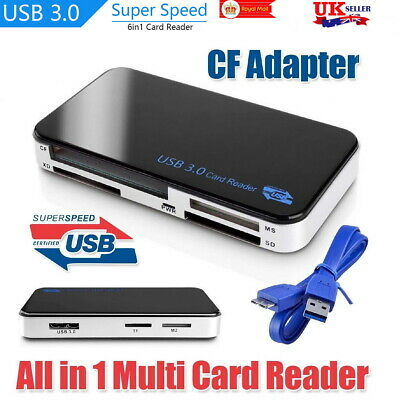 USB 3.0 All In One Multi Memory Card Reader Adapter CF Micro SD HC SDXC TFLASH • 10.99£