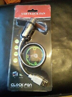 Usb Clock Fan • 5.40£
