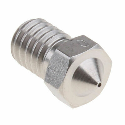 V5 V6 0.4mm Stainless Steel Extruder Nozzle E3D M6 Thread 1.75mm For 3D Printers • 5.99£