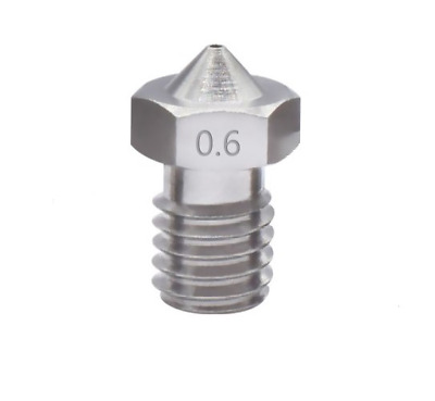 V5 V6 0.6mm Stainless Steel Extruder Nozzle E3D M6 Thread 1.75mm For 3D Printers • 5.99£