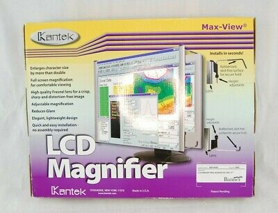 Kantek MAXVIEW LCD Monitor Magnifier Filter For 17-Inch Widescreen • 34.99£