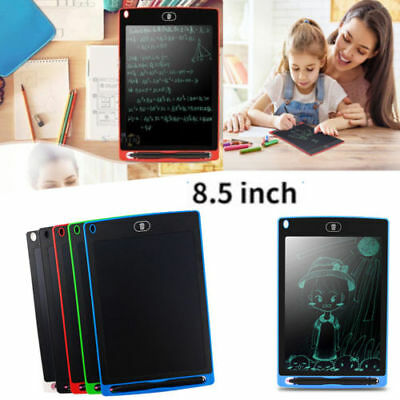 .LCD Writing Pad Kids Painting Drawing Tablet Message Doodle EWriter Board 8.5  • 10.99£