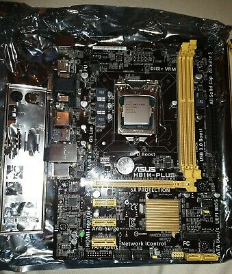 Asus H81M-PLUS Motherboard With Intel I5-4460 3.28ghz CPU • 41£